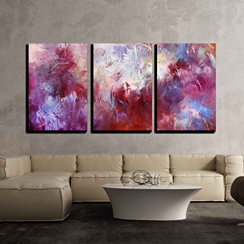 Canvas Textured (wall26 - 3 Piece Canvas Wall Art - Abstract Oil Paint Texture on Canvas - Modern Home Decor Stretched and Framed Ready to Hang - 24