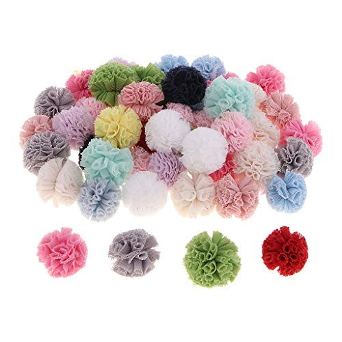 CUTICATE Packs of 50 Multicolor Arts and Crafts Pom Poms Balls for DIY Earrings, Keyring, Cell Accessories, Hair Ornaments, Party Decor, Card Decor, -