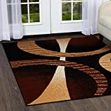 Home Dynamix Modern Style Area Rug | Premium Collection HD5194-502 | Indoor Polypropylene Rug | Abstract Pattern in Ebony | Best Value for Money