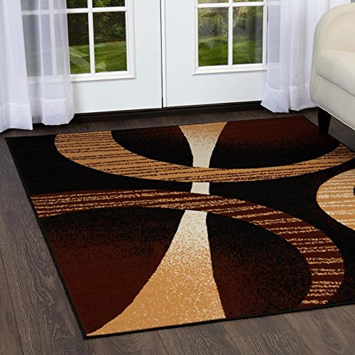 Home Dynamix HD5194-502 Premium Indus Modern Area Rug, 8x10, Brown/Cream