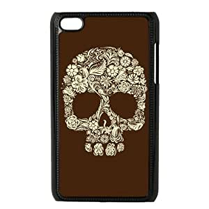 iPod Touch 4 Case Black Sugar Skull Cover brxc