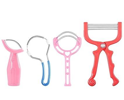 4 diversos pedazos Kit del removedor del pelo facial Epilators Stick Threading Herramientas de la belleza