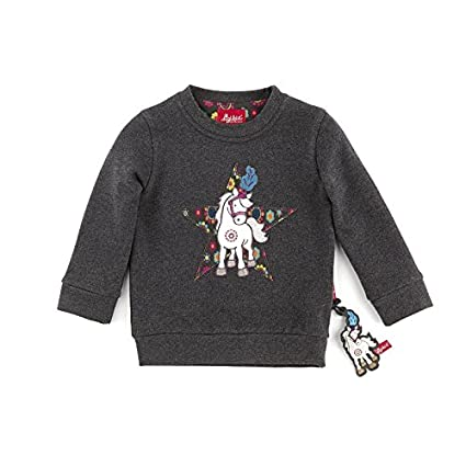 Mini 92 sigikid 146406 Sweatshirt grau Pferd