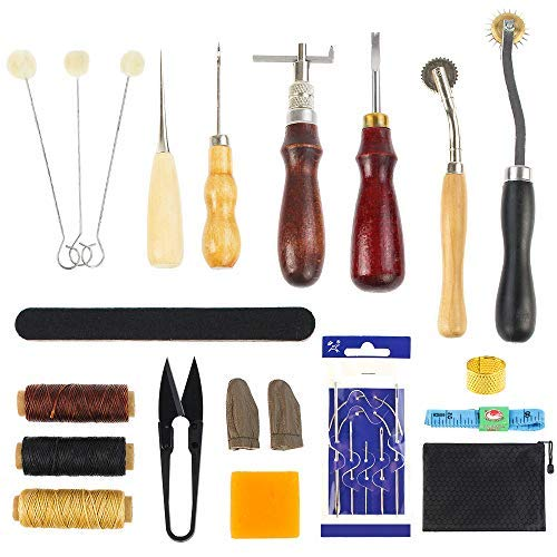 Great Complete Leather Sewing Set!