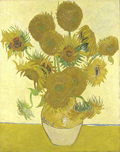 Sunflowers Reproduction - Vincent Van Gogh Vase with Fifteen Sunflowers 30