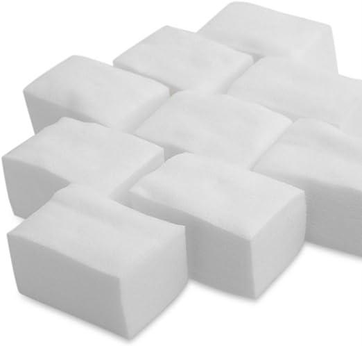 LAAT 900pcs Limpiador de uñas de algodón Removedor de Esmalte de uñas Blanco Algodón Celuloso Toallitas: Amazon.es: Hogar
