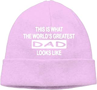 Momen's This Is What The World'S Greatest Dad Looks Like Elastic Travel Black Beanies Cap Hat