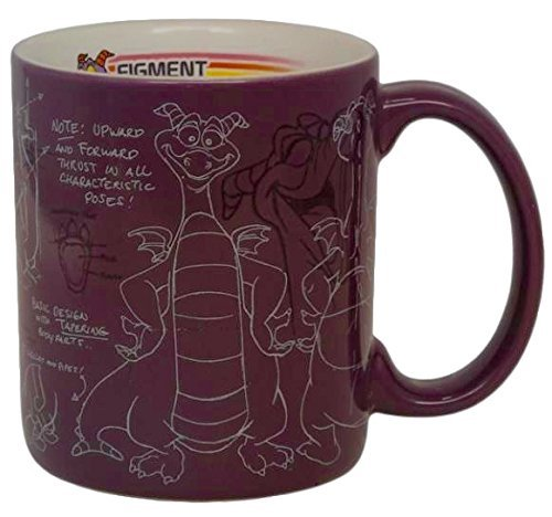 Disney Parks Epcot Center Figment Mascot Sketch Coffee Mug Cup