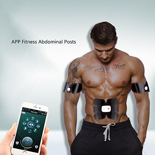 Tonificador Muscular Abdominal Actualizado USB Recargable Músculo Abdominal Body Fitness Trainer Gear Estimulador ABS Para...