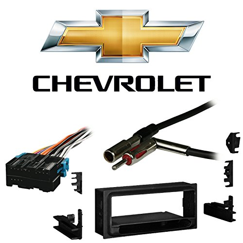Fits Chevy S-10 Pickup 98-01 Single DIN Stereo Harness Radio Install Dash Kit ()