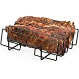 """Artestia 11.5"""" or 14"""" BBQ Grill Non-Stick Rib Rack, fits spare rib/back rib from costco/whole foods perfectly (11.5-inch width)"""