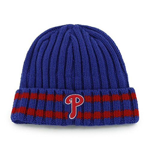 - '47 Philadelphia Phillies Blue Cuffed Melbourne Fashion Beanie Hat - MLB Cuff Knit Toque Cap