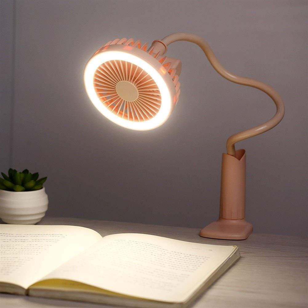 Air Cooler USB Charging Clip Fan Night Light Handheld Mini Fan Outdoor Baby Stroller Fan Color : Blue
