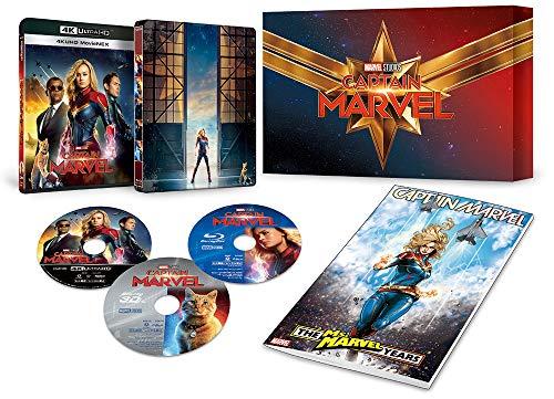 (2019年7月3日 발매예정 - 예약주문) 캡틴 마블 4K UHD MovieNEX 프리미엄 BOX [4K ULTRA HD + 3D + 블루 레이 + 디지털 복사 + MovieNEX 월드] [Blu-ray]
