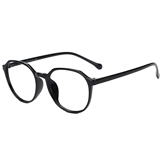 1d68615e34c0 Slocyclub New Vintage Black-Rimmed Glasses Classic Frame Optical Eyewear  with Clear Lens for Women
