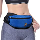 EAOOK Runners Belt Waist Pack, Large Fanny Pack Waterproof, Waist Bag Running Belt Packs Travel Sport,Design With Scratch Resistant Coating,Good In Ripstop And Antitheft. (BLUE)