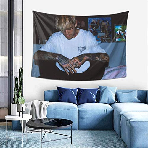 Lombardi Lil-Peep Tapestry Wall Hanging Tapestries Polyester for Indoor Bedroom Living Room Dorm Decoration 60 X 40 Inch
