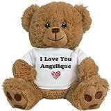 FUNNYSHIRTS.ORG I Love You Angelique Romantic Valentines Gift: 8 Inch Teddy Bear Stuffed Animal
