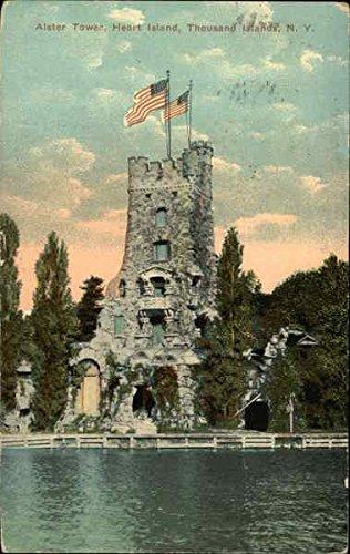 Alster Tower, Heart Island Thousand Islands, New York Original Vintage Postcard