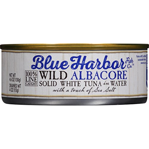 Blue Harbor Wild Albacore Tuna, in Water with Sea Salt, 4.6 Ounce (Pack of 12) ()