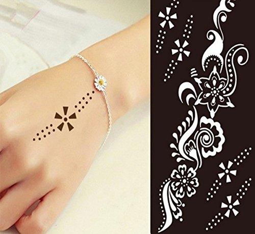 Mehndi Tattoo Stencil Mehndi Tatuaggi all'hennè S235 - Usa e getta - Per Tatuaggio all'henné, scintillio tatuaggio e airbrush tatuaggio Tie