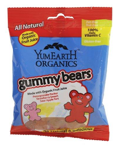 Yumearth Gummy Bears, 2.5-Ounce (Pack of 12)