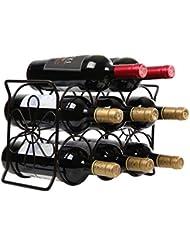finnhomy 6 bottle wine rack with flower pattern wine bottle holder free standing wine storage rack 2way storage original design patent pending iron