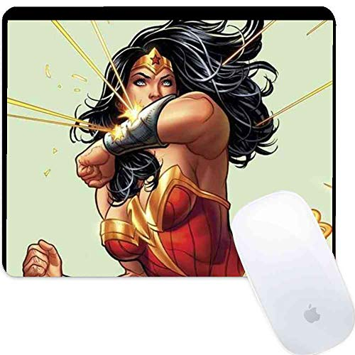Gaming Mouse Pad Wonder Woman Frank Cho Cover Fashion Cute Stitching Edge Rectangular Round Mouse Pad Non Slip Rubber Home Office Durable 350mm280mm3mm ()