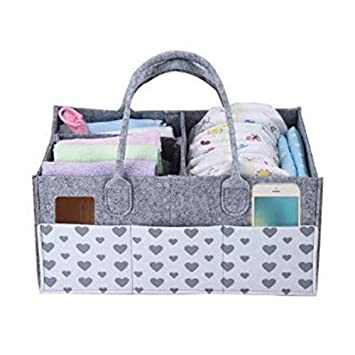 Charitable Baby Diaper Bag Caddy Nursery Storage Bin Nappy Organizer Basket Portable Elegant And Sturdy Package Baby Diaper Bags