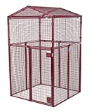 Animal House Ultra Heavy Duty Gable Covered Protective Kennel (8.75' Hx5'Lx5'W) 317.8 lbs