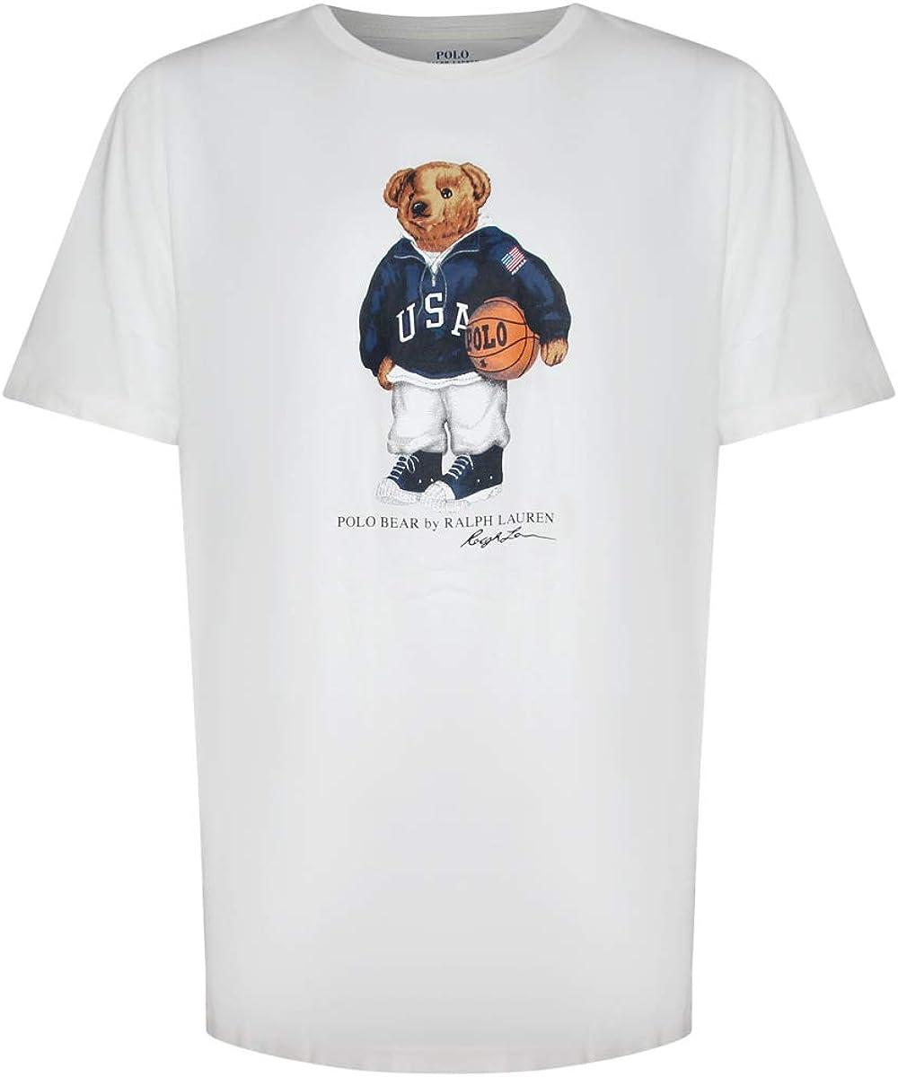 Polo Ralph Lauren Mens Limited Polo Bear Basketball T-Shirt (XX-Large, White)