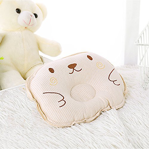 Baby Pillow Head Shaping,Baby Sleeper Pillow Cotton Soft,Breathable and Pollution-Free Baby Can Bite,Protection for Flat Head,Gift 1 Baby Cotton Bibs