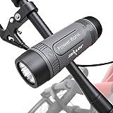 Outdoor Bluetooth Speakers, Portable, Wireless Bicycle Speaker, Zealot S1 4000mAh Power Bank, Splashproof, Microphone, LED Li