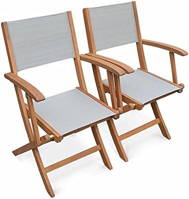 Alices Garden-sillas de jardín madera y textileno-Almería, color ...