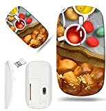 infrared dye - Luxlady Wireless Mouse White Base Travel 2.4G Wireless Mice with USB Receiver, 1000 DPI for notebook, pc, laptop, computer, macdesign IMAGE ID 27636336 Easter sweet brioche colored eggs and liquid dye
