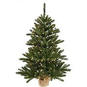 Vickerman Anoka Pine Artificial Christmas Tree with 92 PVC tips in a Burlap Base