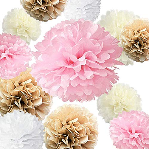 VIDAL CRAFTS Set of 20 Pieces Party Tissue Paper Pom Poms (14
