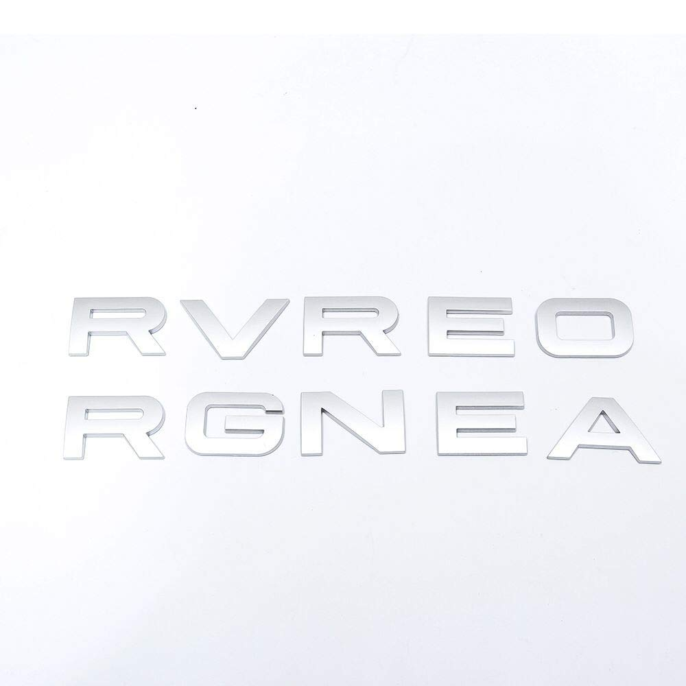 Car Emblem Cover Sticker Letters For Range Rover Land Rover car Stickers Decal Logo Silver