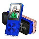 Electronics : MP3 Player, Music Players - FecPecu Updated Version 8GB Hi-Fi Sound 35 Hours Playback , Portable Audio Player Build-in Speaker With Voice Recorder and FM Radio Expandable Up To 64GB (Blue)