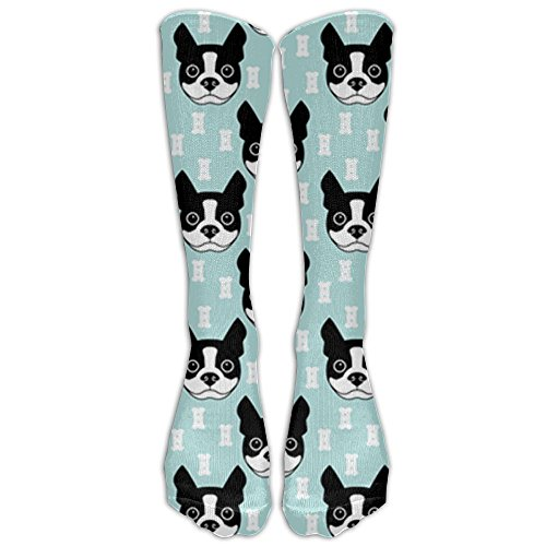PHCDGDD Boston-terrier-and-dog Graduated Compression Socks For Men & Women Best Stockings For Nurses, Travel, Running, Maternity - Sock Terrier Womens