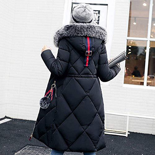 Manica Cerniera Invernale Lunga Soprabito Giacca Donna Nero Da Unita Tinta A Con 3xl Vento M Tasca Juleya Cappotto Colori Parka 6 Cappuccio vw4500