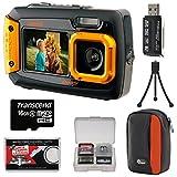 Coleman Duo 2V9WP Dual Screen Shock & Waterproof Digital Camera (Orange) with 16GB Card + Case + Kit