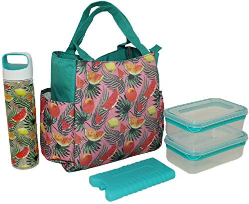 - SILVER ONE Durable & Reusable Premium Insulated Heavy Duty Tote Lunch Bag Set