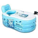 Bathtubs Freestanding Inflatable Adult Bath tub Stylish Home Bath Bath tub Comfortable Folding Bath tub Relieve Fatigue (Blue) (Size : 130x70x70cm)