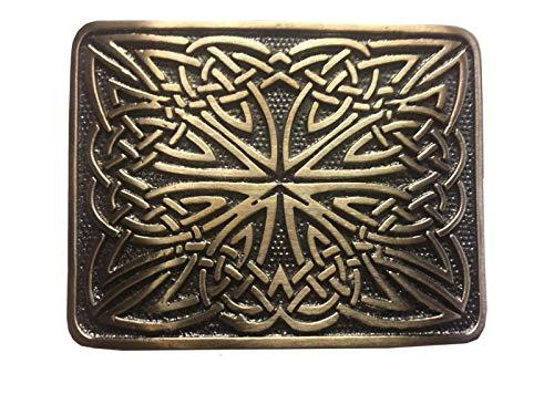 (Scottish Belt Buckle Kilt Highland Celtic Design Antique Finish AAR)