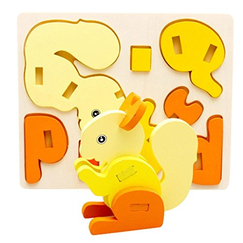 Wooden Colorful Puzzle Jigsaw Toy - 9