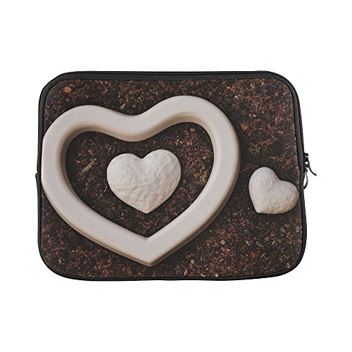 """Price comparison product image Design Custom Heart Gypsum Blanks Unpainted White Love Sleeve Soft Laptop Case Bag Pouch Skin For Macbook Air 11""""(2 Sides)"""