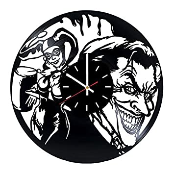 Amazon Com Joker And Harley Quinn Vinyl Record Wall Clock