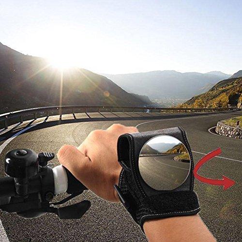 Aeifond Bike Rear View Mirror Adjustable Wrist Wear Bicycle Mirror 360 Degree Wide-angle Cycling Wristband Safety Back Rear View Mirror for Cyclists Mountain Road Bike Riding by Aeifond (Image #1)