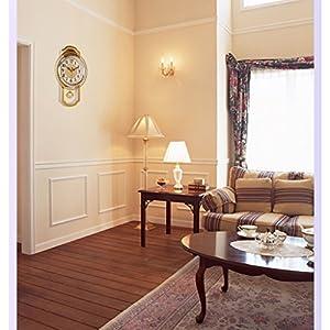 Nclon Europeo Reloj de Pared,Silencioso sin Ruidos Creativo Sala de Estar Dormitorio Retro Swing Cuarzo Reloj de Pared-C 43*27cm